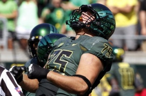 Traverse City West grad Jake Fisher will be a third-year starting tackle for No. 4 Oregon.